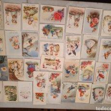 Postales: POSTALES FELICITACIÓN. C.Y Z. LOTE 37 POSTALES. AÑOS 40-50.. Lote 245094845