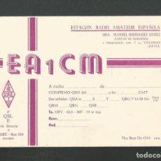 Postales: POSTAL TARJETA RADIO AFICIONADO CAPITAN DE INGENIEROS )VALLADOLID=. Lote 253346010