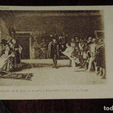Postales: POSTAL DE OBRAS DE ROSALES, PRESENTACION DE JUAN DE AUSTRIA A CARLOS V, FOT. LAURENT, MADRID, REVERS. Lote 253475755