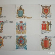 Postales: 50 POSTALES. ESCUDOS ESPAÑOLES. COLECCIÓN COMPLETA. HERMENEGILDO MIRALLES. BARCELONA.. Lote 262391860