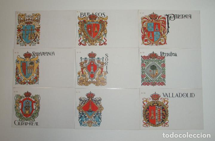 Postales: 50 POSTALES. ESCUDOS ESPAÑOLES. COLECCIÓN COMPLETA. HERMENEGILDO MIRALLES. BARCELONA. - Foto 3 - 262391860