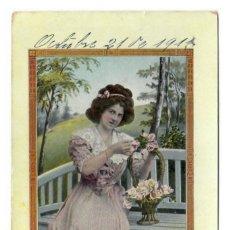 Postales: RETRATO DE MUJER - CIRCULADA EN 1911. Lote 266976274