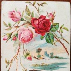 Postales: POSTAL FLORES FRANQUEO CALDETAS BARCELONA 08/02/1908 SELLO 10 CTS. Lote 269462388