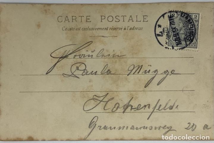 Postales: Postal comedia purpurina Danzas Húngaras, reverso sin dividir, circulada 1905, sello imperio alemán. - Foto 2 - 275121748