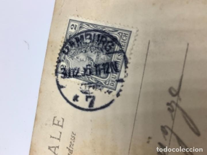 Postales: Postal comedia purpurina Danzas Húngaras, reverso sin dividir, circulada 1905, sello imperio alemán. - Foto 3 - 275121748
