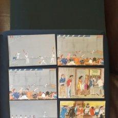 Postales: POSTALES ILUSTRADAS POR K-TOÑO FRADE ,FRONTON JAI ALAI DE GUERNICA , BIZCAYA,AÑO 1967, LOTE DE 16 PO. Lote 275881363