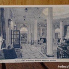 Postales: HALL DEL REINA VICTORIA DE BORBON. CADIZ 1918. Lote 276933413