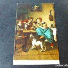 Postales: LA DANZA DE LOS GATOS DE JAN STEEN POSTAL CROMOLITOGRAFICA STENGEL. Lote 285968383
