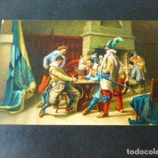 Postales: SOLDADOS APOSTANDO DE J. L. MEISSONIER POSTAL CROMOLITOGRAFICA STENGEL. Lote 285968448