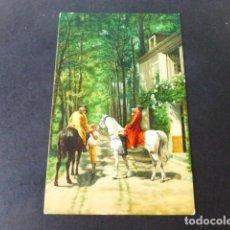 Postales: LA POSADA DE J. L. MEISSONIER POSTAL CROMOLITOGRAFICA STENGEL. Lote 285969323
