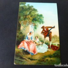 Postales: LA LECCION DE MUSICA DE LANCRET POSTAL CROMOLITOGRAFICA STENGEL. Lote 285969333