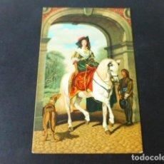 Postales: RETRATO ECUESTRE DE MILLAIS-LANDSEER POSTAL CROMOLITOGRAFICA STENGEL. Lote 285969643