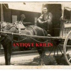 Postales: POSTAL FOTOGRAFICA 1921 / CABALLO CON CARRO / TARTANA. Lote 286688453