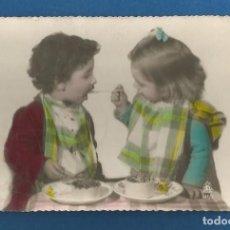 Postales: POSTAL ESCRITA PERO NO CIRCULADA ROMANTICA NIÑOS EDITA BARCO 141/2. Lote 292535523