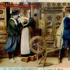 Postales: FRANCIA - LA BRETAGNE, LES LITS CLOS BRETONS. LA PARTIDA DEL MARINO. Lote 16505979