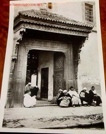 ANTIGUA POSTAL DE MARRUECOS - MARRAKECH - ENTRADA AL PALACIO DEL PACHA (Postales - Postales Temáticas - Étnicas)