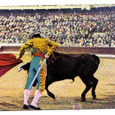 Postales: CORRIDA DE TOROS - PASE DE MULETA. Lote 3109116