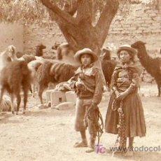 Postales: PASTORES DE LAMAS BOLIVIANOS (FOTOGRAFICA). Lote 4207127
