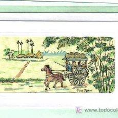 Postales: POSTAL DEL VIETNAM - PINTADA SOBRE TELA . Lote 26313686