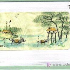 Postales: POSTAL DEL VIETNAM - PINTADA SOBRE TELA . Lote 26313681