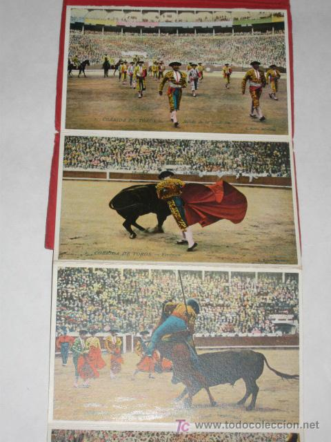 Postales: Corrida de Toros. Cuadernillo de 12 postales desplegables. L. Roisin. - Foto 2 - 23956163