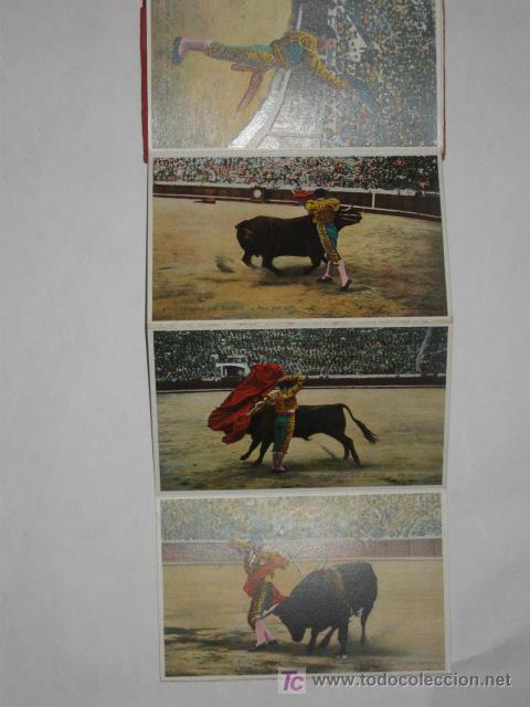 Postales: Corrida de Toros. Cuadernillo de 12 postales desplegables. L. Roisin. - Foto 3 - 23956163