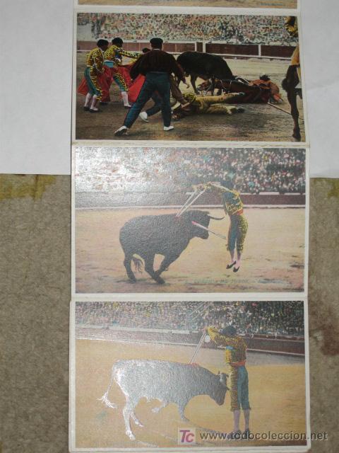 Postales: Corrida de Toros. Cuadernillo de 12 postales desplegables. L. Roisin. - Foto 4 - 23956163