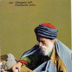 Postales: CAMBIANTE (BANQUERO) JUDIO. POSTAL COLOR DE LOS FAMOSOS LEHNERT & LANDROCK, C. 1915. Lote 26139354
