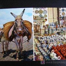 Cartoline: ESPAÑA TIPICA. BURRITO Y PUESTO DE CERAMICA. Lote 11253881