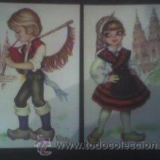 Postales: DOS POSTALES: DIBUJOS REGIONALES (1) NUEVAS. Lote 11480014