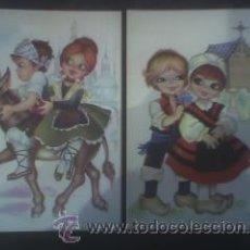 Postales: DOS POSTALES: DIBUJOS REGIONALES (2) NUEVAS. Lote 11480021