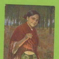 Postales: POSTAL ETNICA PINTURA DE SIMONET- NIÑA DEL FAROL.EDI.COLL .BARCELONA-Nº.917-P 277. Lote 18470964