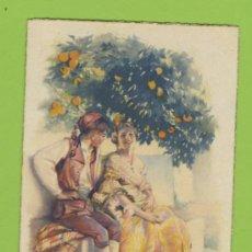 Postales: POSTAL DIBUJO ARTURO BALLESTR TEMA VALENCIA PAREJA DE VALENCIANOS JDP -P 296. Lote 11593990