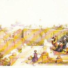 Postales: ISRAEL: ANTE LA MEZQUITA DE OMAR. Lote 13750839
