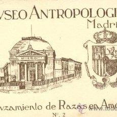 Postales: MUSEO ANTROPOLÓGICO DE MADRID. 20 POSTALES CON EL CRUZAMIENTO DE RAZAS EN AMÉRICA. C. 1950 ?. Lote 27579038