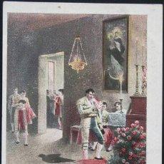Postales: POSTAL ANTES DE LA CORRIDA . TOROS TOREO TOREROS . CALLEJA CA AÑO 1900.. Lote 22771280