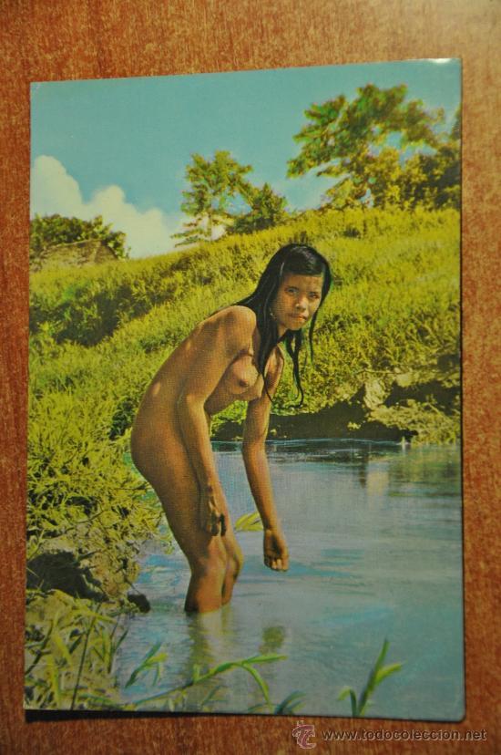 Iquitos Peru Indigena Desnudo Postal Sold Through Direct Sale
