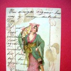 Postales: POSTAL TEMÁTICA ORIENTAL.11 DE ABRIL DE 1902. SELLADA Y MATASELLADA. Lote 23574742