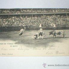 Postales: CORRIDA DE TOROS UN QUITE HAUSER Y MENET 1905. Lote 25854662