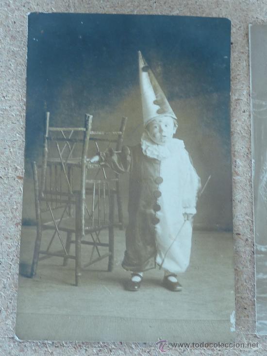 Postales: lote de 3 fotopostales etincas? carnaval? disfrezas? de 1919. - Foto 4 - 27898218