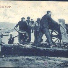Postales: PESCADORES DE ATÚN EN LA COSTA CANTÁBRICA. Lote 29197170