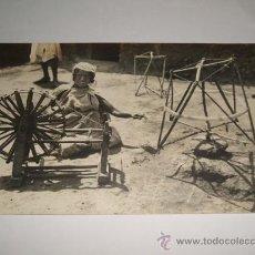 Postales: HILANDERA POSTAL FOTOGRAFICA HACIA 1915. Lote 30225072