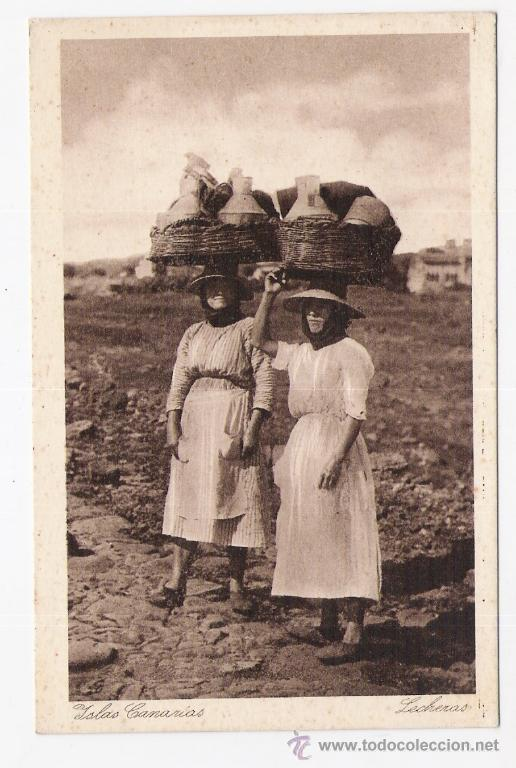 LECHERAS DE LAS ISLAS CANARIAS (Postales - Postales Temáticas - Étnicas)