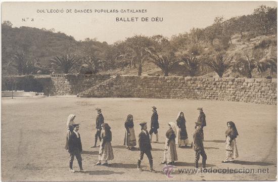 BALLET DE DÉU, DANSA POPULAR CATALANA. (Postales - Postales Temáticas - Étnicas)