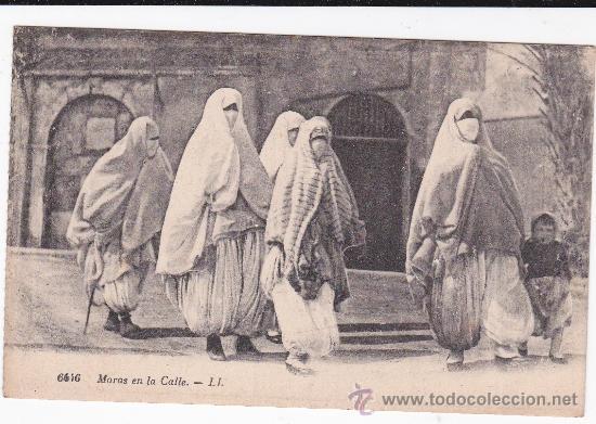 6446 MORAS EN LA CALLE LEVY ET NEURDEIN PARIS (SIN CIRCULAR) (Postales - Postales Temáticas - Étnicas)
