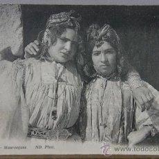 Postales: POSTAL CIRCULADA 1919 839 MAURESQUES ED. ND PHOT. MORISCAS MARRUECOS O ARGELIA. Lote 35376995