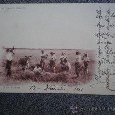 Postales: POSTAL AÑO 1901 LAURENT COLECCIÓN HISTORIA DEL PAN LA SIEGA. Lote 35466052