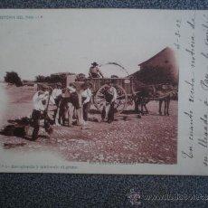 Postales: POSTAL AÑO 1902 LAURENT HISTORIA DEL PAN RECOGIENDO EL GRANO. Lote 35466196
