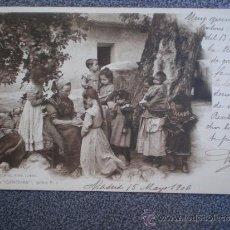 Postales: POSTAL AÑO 1906 ESCUELA AL AIRE LIBRE COLECCIÓN CANOVAS. Lote 35588200