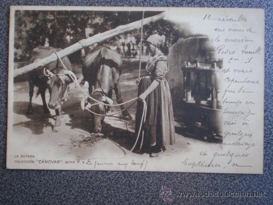 POSTAL AÑO 1901 LA BOYERA COLECCIÓN CANOVAS (Postales - Postales Temáticas - Étnicas)